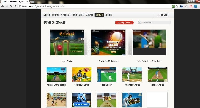 IN -Play Cricket games online