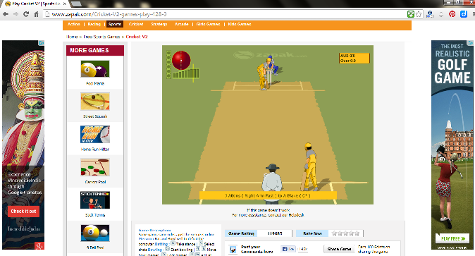 Zapak Cricket Game-Play Cricket games online