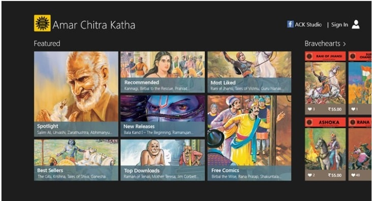 Amar Chitra Katha App now available for windows phone OS
