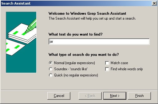 Windows Grep Tool to Search files for text