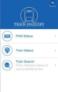 UCBrowser lets you check PNR status and find trains without captcha