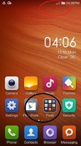 Redmi 1s Homescreen Flashing MIUI ROM