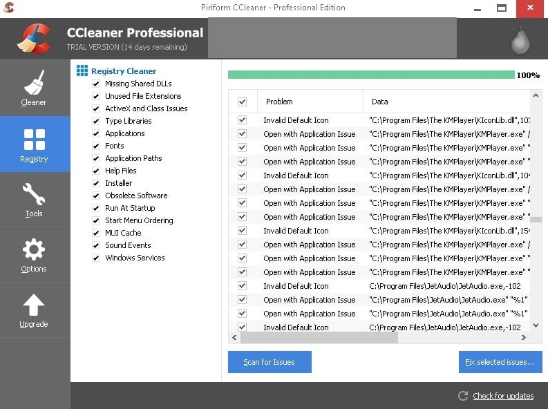 ccleaner registry cleaner