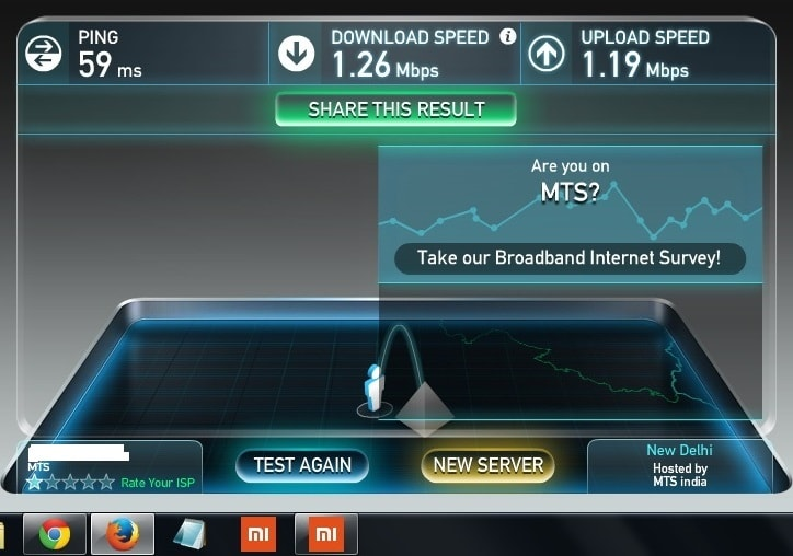 mts mblaze ultra wifi review - speed test