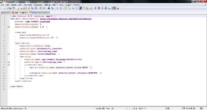 notepad++ format xml code
