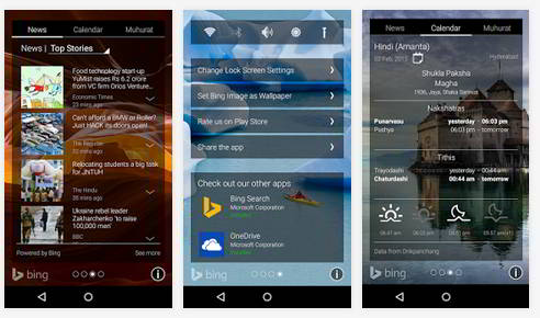 Microsoft Picturesque - one of the best lockscreen replacement app for Android