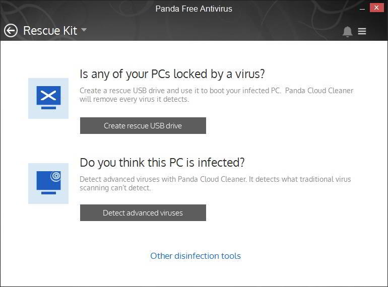 Panda Antivirus rescue kit