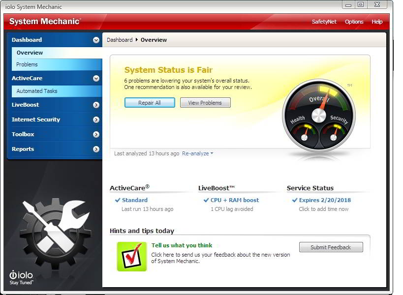 download system mechanic software for Windows XP, 7, 8 or 8.1