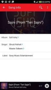 wynk music app album info