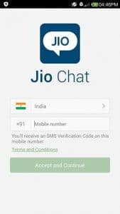 Jio chat verification