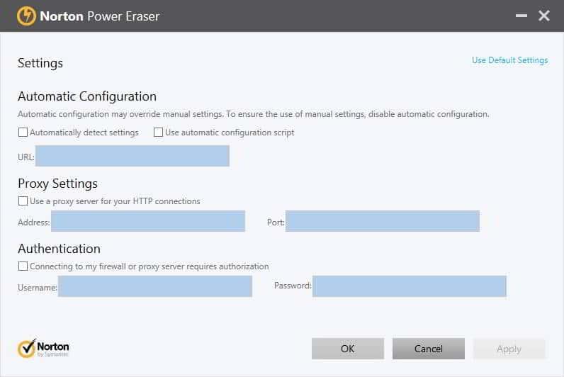 NPE network proxy settings