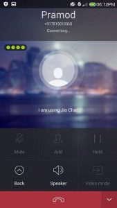 Reliance Jio chat calling feature