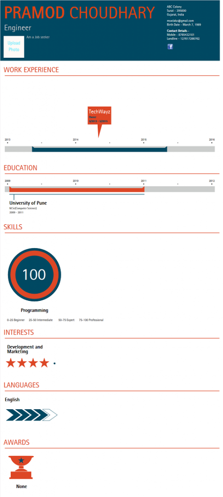 create mind blowing infographic resume with these online tools