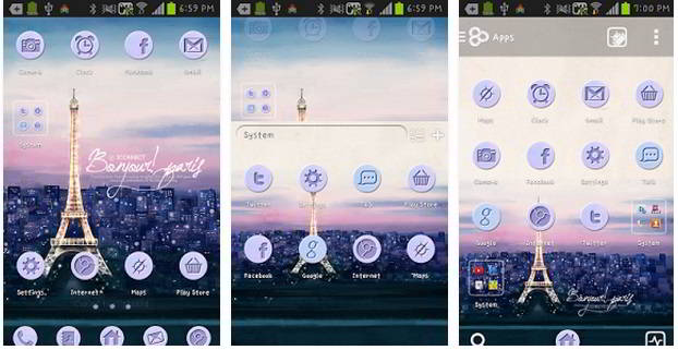Paris - Best Go Launcher themes free download 2015