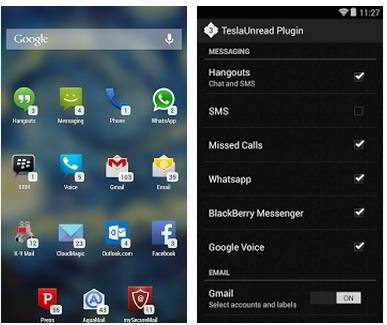TeslaUnread - Free and best nova launcher themes (icons, skins) 2015