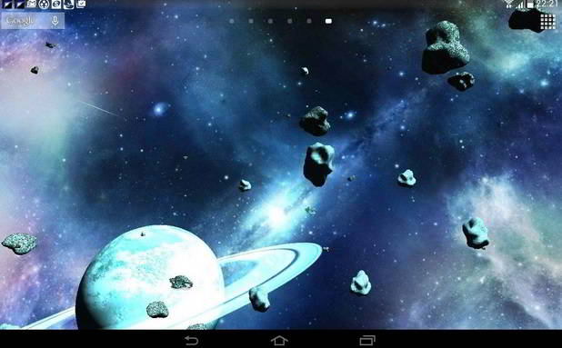 Asteroids - top free moving wallpapers for Android