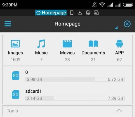 ES - Best file manager for Android 2015