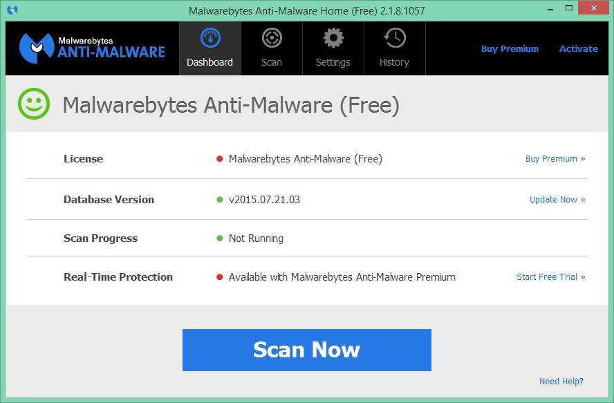 Malwarebytes antimalware free version review 2015