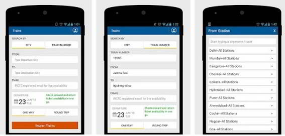 MakeMyTrip IRCTC train booking app