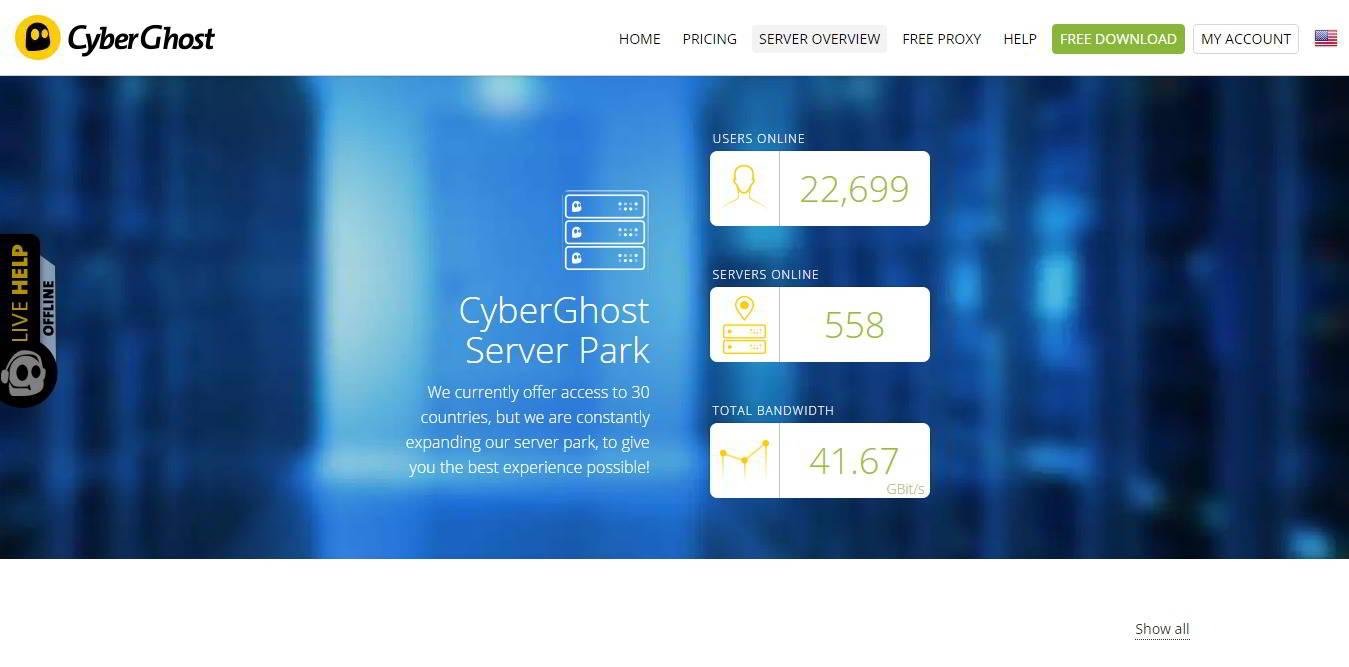 cyberghost server
