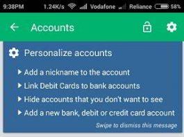 check bank balance Android