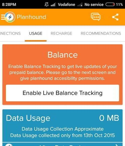 Komparify planhound app home