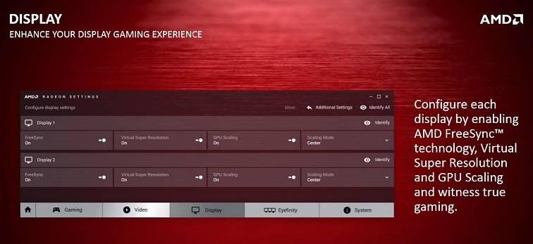 AMD Crimson display