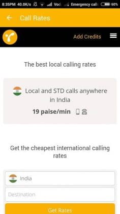 local call rates