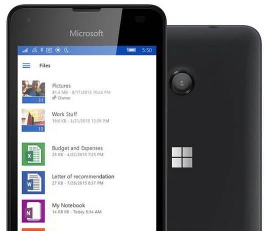 Microsoft Lumia 550 phone