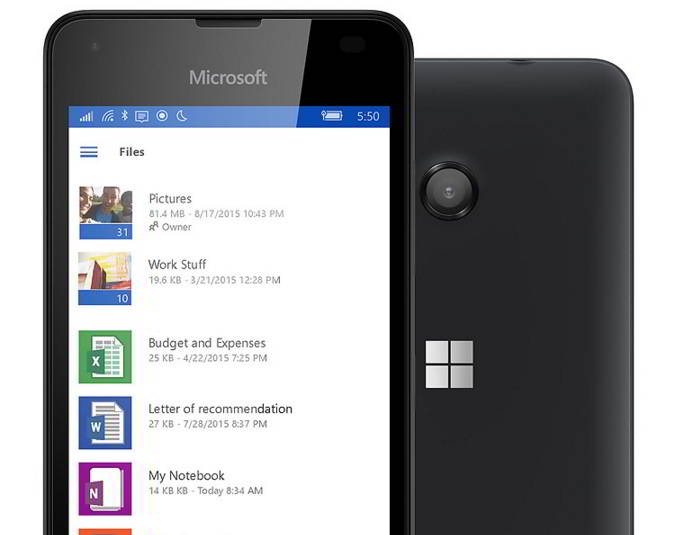 Microsoft Lumia 550 phone