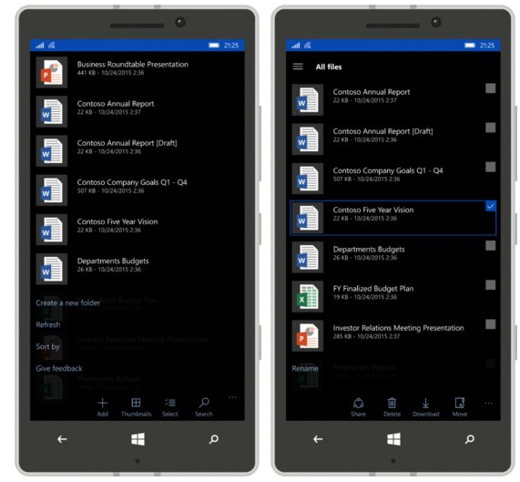 onedrive app for Windows phone