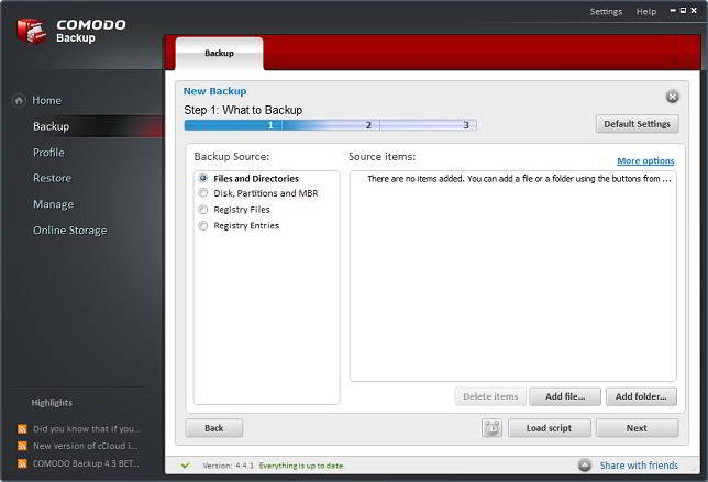free comodo backup software for windows