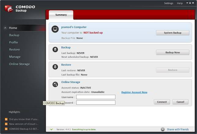 comodo review home
