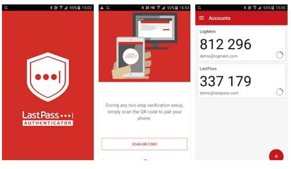 LastPass authenticator app for Android