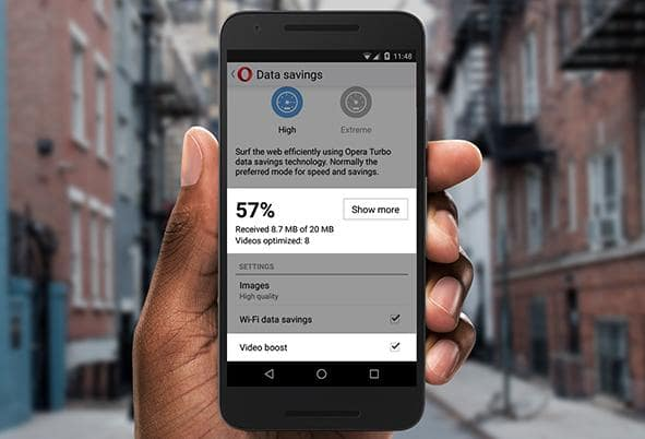 opera mini 15 data saver