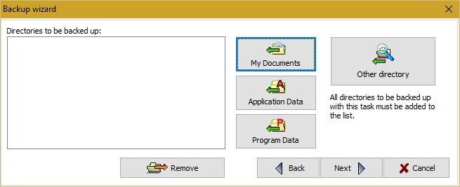 backup files on Windows