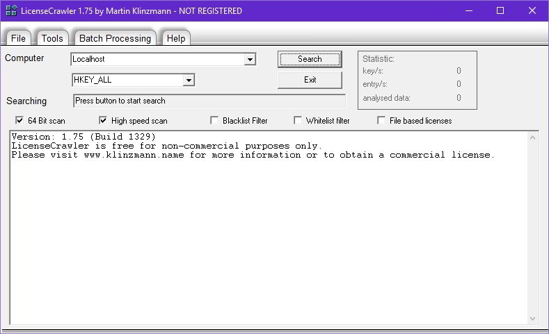 download licensecrawler to backup and recover software license keys