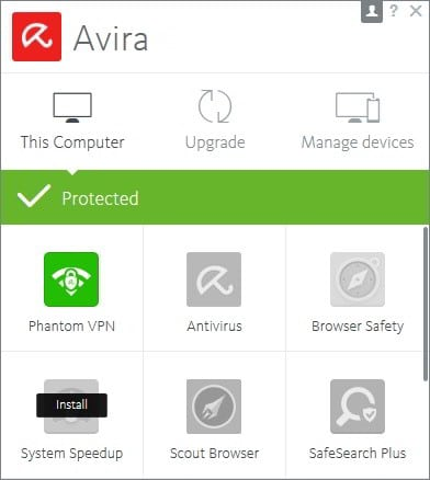 Avira Phantom VPN software