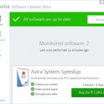 Avira Software Updater upgrades Outdated Programs on Windows