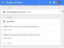 How to use Google My Activity