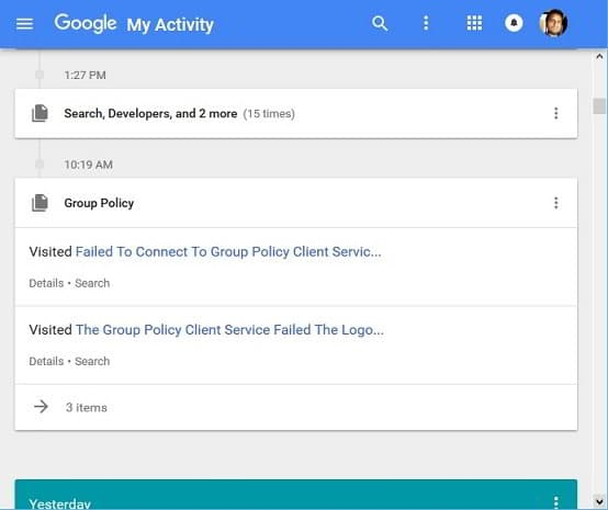 How to use Google My Activity