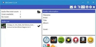 disCoverJ freeware : add cover to MP3, MP4, FLAC, WMA files