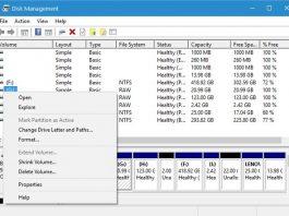 Windows disk management drive letters