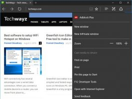 Edge browser extensions