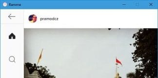 ramme cross platform Instagram client app for Linux, Windows, Max