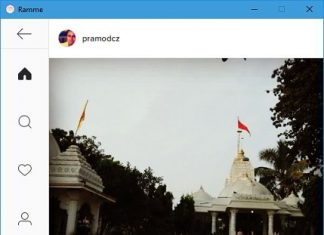ramme cross platform Instagram client app for Linux, Windows, Max