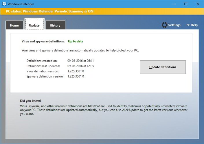 Fix windows defender update
