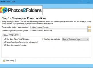 p2f-freeware to organize photos into folders