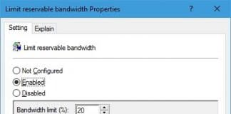 windows-10 qos network bandwidth limit inssues