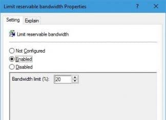windows-10 qos network bandwidth limit inssues
